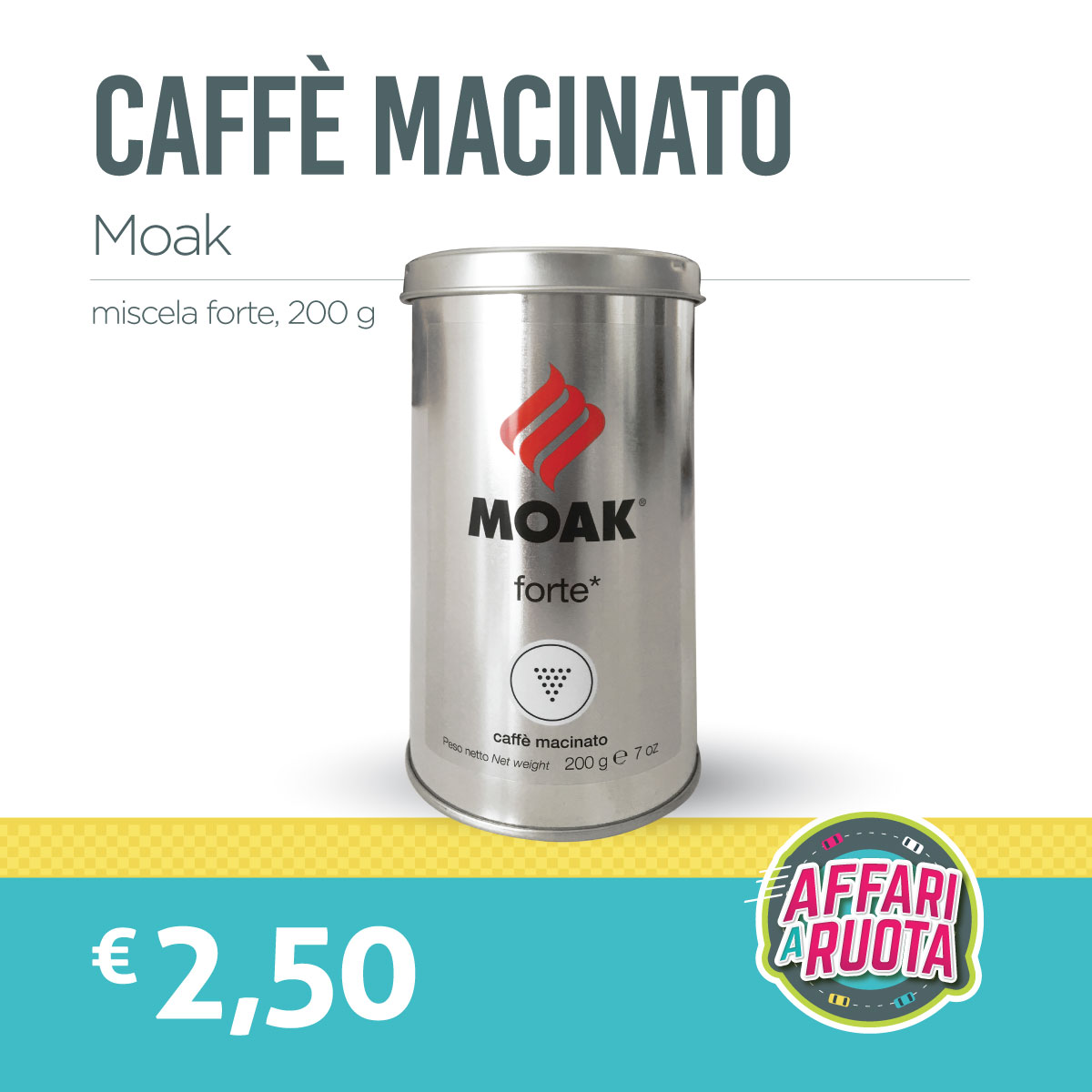 Caffè macinato Moak