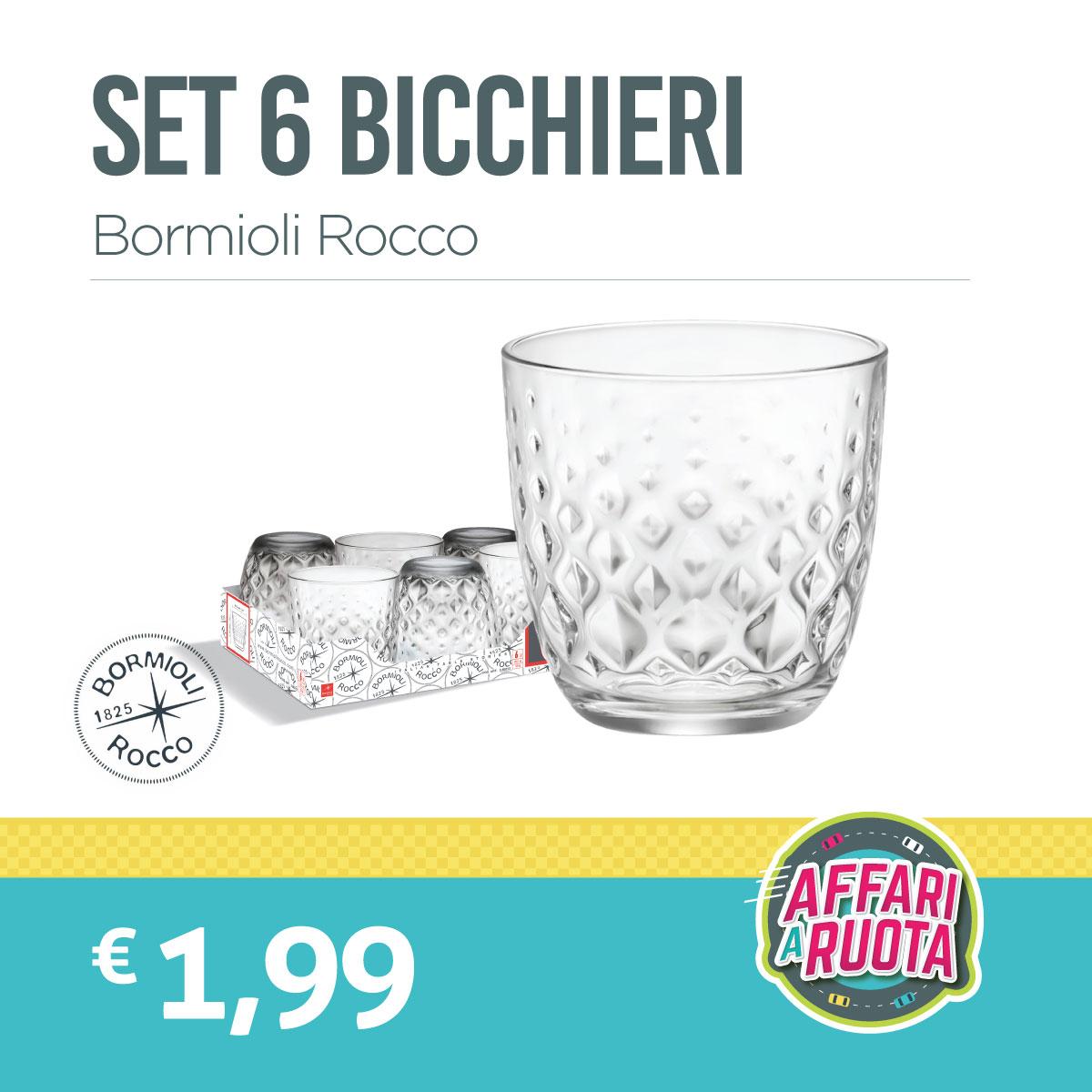 Set 6 bicchieri Bormioli Rocco